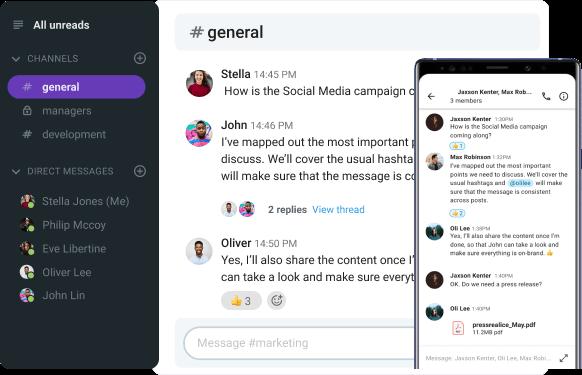 Pumble chat app